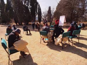 Workshop in the sun